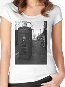 English Red Phone Box Women's Fitted Scoop T-Shirt