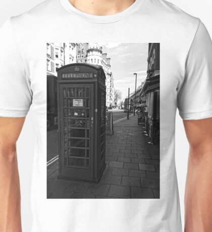 English Red Phone Box Unisex T-Shirt