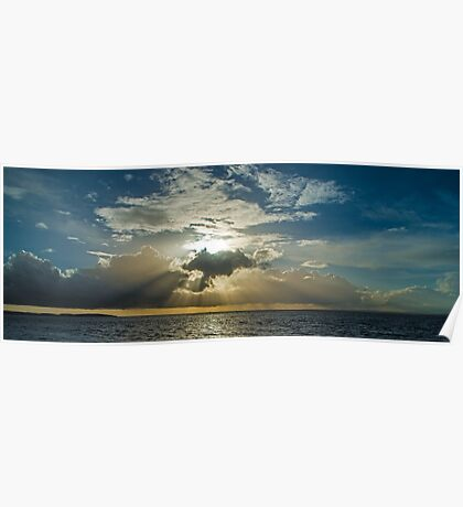 Sunset over the Bristol Channel Poster