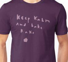 Keep kalm and bake kake Unisex T-Shirt