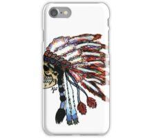 Native American head dress skull  iPhone Case/Skin