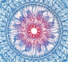 Red, Blue & White Floral Medallion Sticker