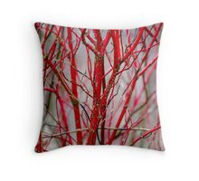 Red Nature Throw Pillow