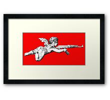 Cupid with an AK 47 Framed Print