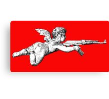 Cupid with an AK 47 Canvas Print