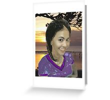 Indonesian Lady Greeting Card