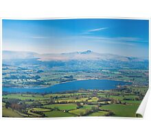 View over Llangorse Lake Poster