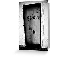 Murder Door Greeting Card