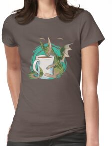 Domestic Dragons: Tea Lover Womens Fitted T-Shirt