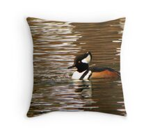 Hooded Merganser ~ Male Throw Pillow