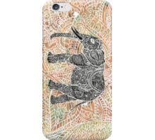 Tribal Paisley Elephant Colorful Henna Pattern iPhone Case/Skin