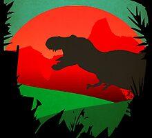 Isla Nublar - Site A - Tyrannosaurus Rex - T-REX  by JamieHarknett