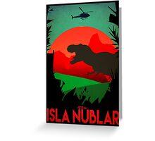 Isla Nublar - Site A - Tyrannosaurus Rex - T-REX  Greeting Card