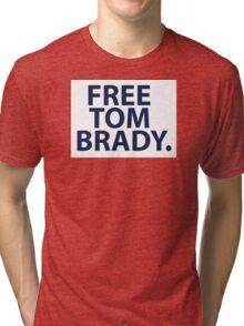 Free Tom Brady - New England Patriots Quarterback  Tri-blend T-Shirt