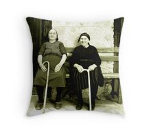 Old Girls Throw Pillow