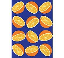 Orange Pattern - Blue Photographic Print