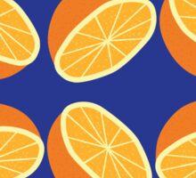 Orange Pattern - Blue Sticker