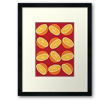 Orange Pattern - Maroon Framed Print