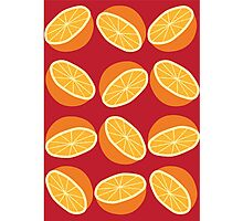 Orange Pattern - Maroon Photographic Print