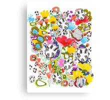 Floral Doodle Canvas Print