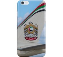 Etihad Airlines Boeing 777 tail livery  iPhone Case/Skin