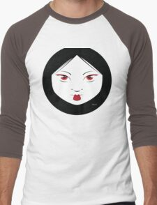 Geisha Girl Chic Men's Baseball ¾ T-Shirt
