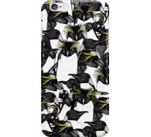 just penguins black white yellow iPhone Case/Skin