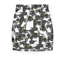 just penguins black white yellow Pencil Skirt