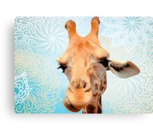 Giraffe Swirl Canvas Print