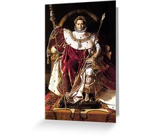 Napoleon On His Imperial Throne Greeting Card