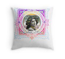 Vintage Woman Throw Pillow