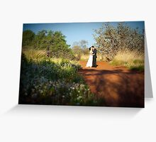 Wedding in the heart of Australia Greeting Card