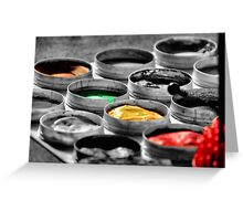 On The Darkside Of Colors Greeting Card