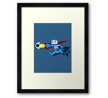 The Blue Bomber (man) Framed Print