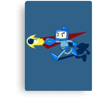 The Blue Bomber (man) Canvas Print