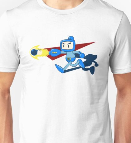 The Blue Bomber (man) Unisex T-Shirt