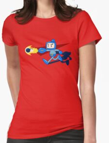 The Blue Bomber (man) Womens Fitted T-Shirt