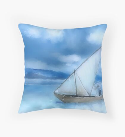 Dhow Fishing Vessel Throw Pillow