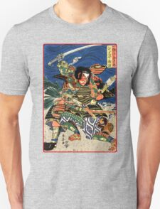 Two Samurai warriors in close combat Unisex T-Shirt
