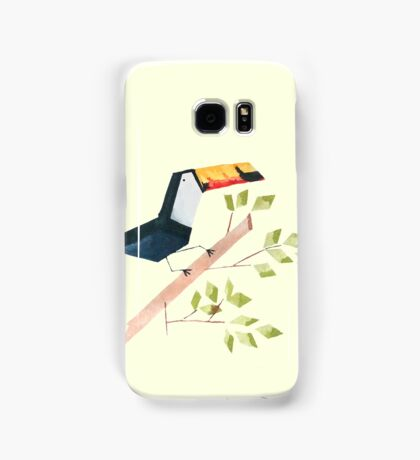Low poly watercolor - Toucan Samsung Galaxy Case/Skin