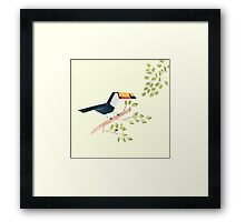 Low poly watercolor - Toucan Framed Print