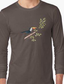 Low poly watercolor - Toucan Long Sleeve T-Shirt