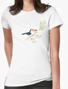 Low poly watercolor - Toucan Womens Fitted T-Shirt