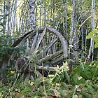 Old Wagon Wheels by Christopher Clark