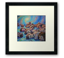 Asleep in A Dream of Life Framed Print