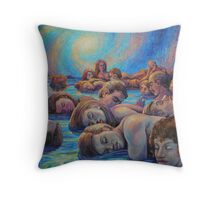 Asleep in A Dream of Life Throw Pillow