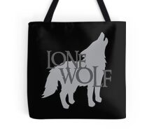 Lone WOLF with wolf howling Tote Bag