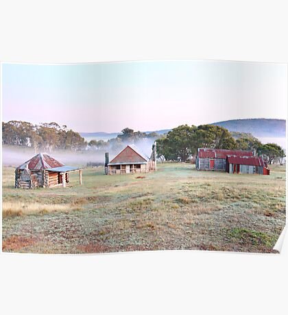 Coolamine Homestead Dawn, Kosciusko National Park, Australia Poster