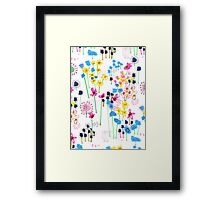 July Floral Garden Framed Print
