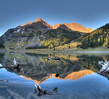 Morning Sun on Maroon Bells by 1832pro
